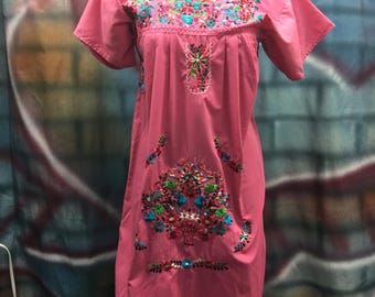 Ladies Pink Mexican Dress