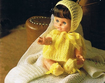 Doll Knitting Pattern, Vintage Knitting Pattern, Dress Up Doll Knitting Pattern, Vintage Doll Pattern, Baby Doll Knitting Pattern, Vintage