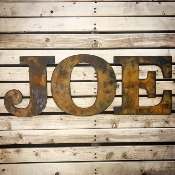 Rustic Letters Wall Decor : Rustic letters home decor wall art family