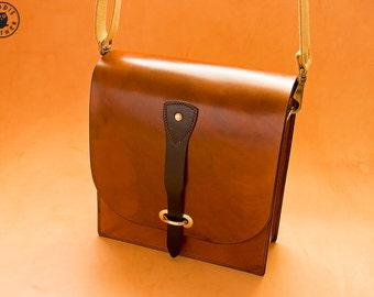 Leather Messenger Bag (Antique Brown)