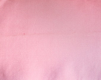 Vintage Bubblegum Pink Satin Fabric- 1 Yard