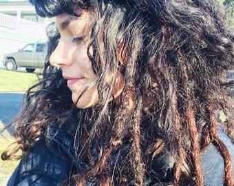 55 Luxury human hair knotty dread Extensions (full head)