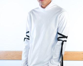 Tied-Sleeve Sweatshirt