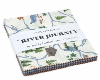 River Journey Charm Pack by Holly Taylor for Moda