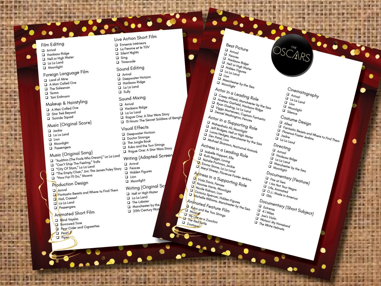 Oscar party ballot oscar party game academy awards ballot oscar party ballot oscar party game academy awards ballot academy awards invitation oscar party invitation the oscars ballot game stopboris Choice Image