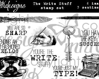 The Write Stuff Digital Stamp Set