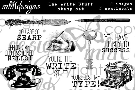 The Write Stuff Digital Stamp Set