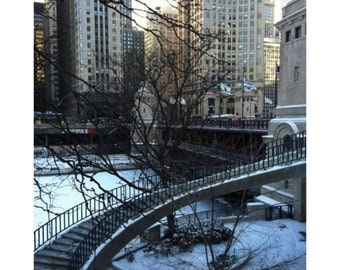 Chicago Photography, Chicago River in Winter photograph