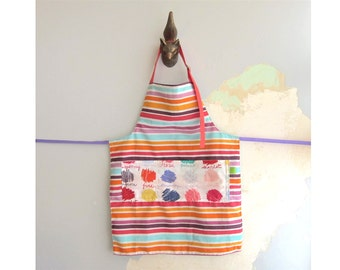 Toddler Apron with pockets - paint colors
