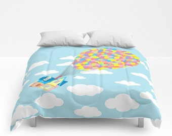 Disney's Up! Comforter, Up! in the Clouds Comforter, Up! Blanket, Disney Blanket, Pixar Comforter, Up! Coverlet