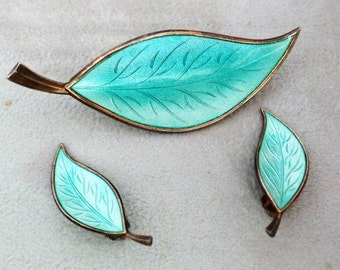 Modernist Brodrine Bjorklund Sterling Pin and Earrings