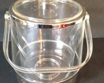 Vintage Acrylic/lucite ice bucket