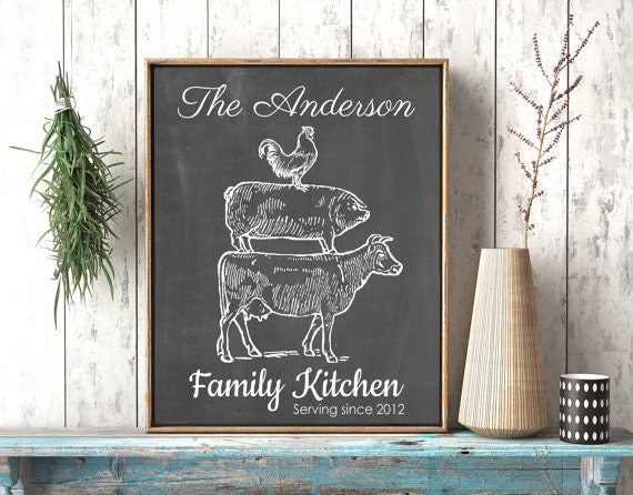 country kitchen chalkboard personalized kitchen gifts chalkboard kitchen country 2755