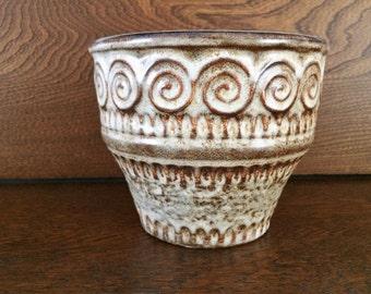 JASBA GERMAN POTTERY  Planter Pot - Coil or Spiral Pattern - Jasba Keramik
