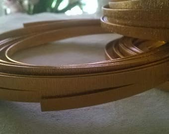 Copper Wire for jewelry making- 5 by 1 mm embossed with a wood grain patter
