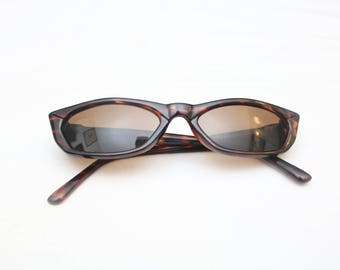 "Rare 90's Vintage ""CINDY"" Brown Leopard Cat-Eye Sunglasses"