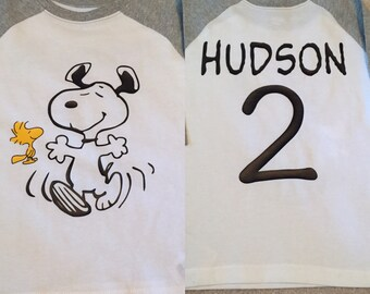 Toddler Peanuts Snoopy & Woodstock Shirt/Birthday Shirt