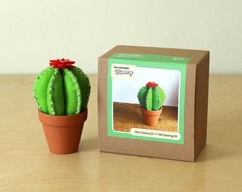 Felt Mini Stuffed Cactus Sewing Kit