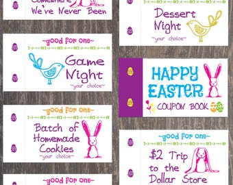 Coupon book for dad love coupons fathers day gift from easter coupon book for kids easter basket filler easter basket gift easter basket negle Choice Image