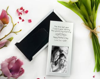 1x Engraved Silver Mother's Day Photo Frame Keepsake