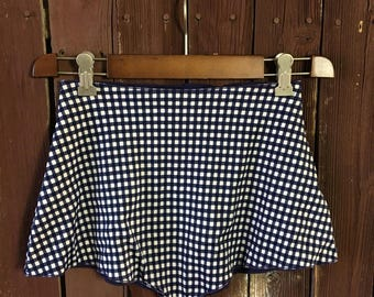 Vintage Polyester/Lycra Gingham Plaid High Waisted Shorts