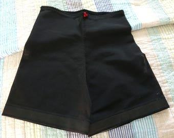 Panty 'N Stems Vintage Black Mesh Body Shaper Girdle