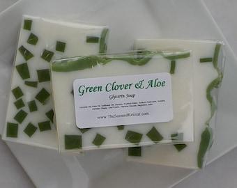 Soap - Green Clover and Aloe Soap