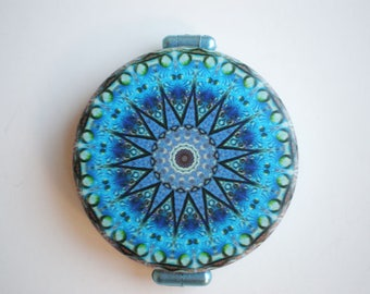 Pocket mirror, hand mirror, Pocket mirror art, Mandala, Printed pocket mirror, Gift for her, Woman gift, Gift idea