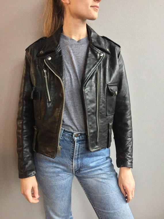 Harley Davidson Black Leather Moto Jacket
