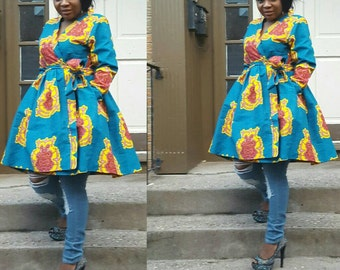 African print ladies jacket