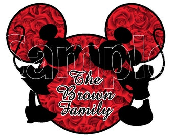 Custom Personalized Mickey Mouse Valentines Day Anniversary wedding Disney Cruise Line Stateroom Door Magnet