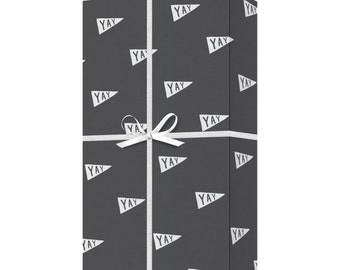 YAY Gift Wrap - Hand lettered Recycled Wrapping Paper - Celebration Gift Wrap