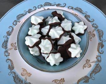 Chocolate Covered Mint Meringue Cookies - Gluten Free