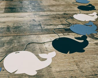 6ft Paper 'Whales' Garland | Bespoke : Choice of Colours Available