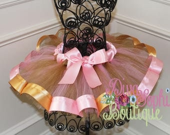 Pink and Gold Ribbon Tutu