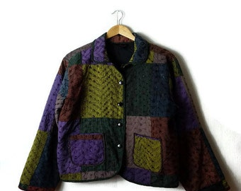 Vintage  Color blocked  Cotton Light Jacket from 90's*
