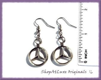 Exclusive Design - Mercedes Benz Logo Earrings - A ShopAtLuxe Original