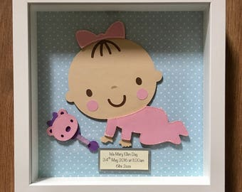 Personalised crawling baby frame