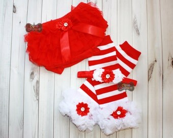 RED AND WHITE-Christmas Leg warmers set-Ruffled Leg Warmers,Red and White Stripe-Leg Warmers-Shabby Chic-Baby Leg Warmers
