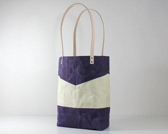 Purple Tote Bag, Waxed Canvas Tote, Waxed Canvas Bag, Tote Bag, Shoulder Bag, Beach Tote, Canvas Tote Bag, Market Bag, Women's Bag