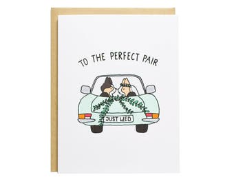 Perfect Pair Corgi Wedding Card, Wedding Card, Dog Wedding Card, Wedding, Engagement, Congrats, Just Wed, Just Married