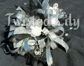 Classic Black wrist corsage
