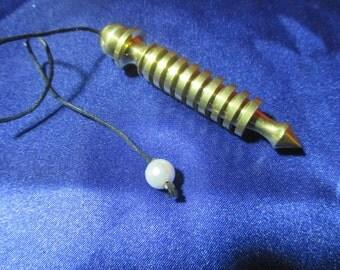 Brass Chamber Pendulum -secret compartment