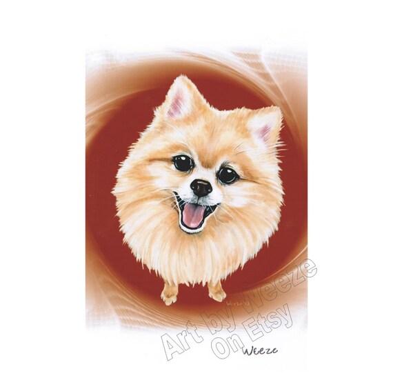 Pomeranian Pomeranian Art Pomeranians Pet By Artbyweeze On