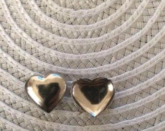 New- 42 pieces silver heart purse studs