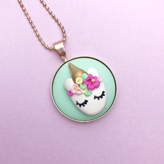 Unicorn Face Necklace