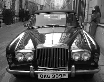 Rolls-Royce, Corniche, Paris Photography, Art, Car Photography, City Streets, Home Accent, French Decor, Black & Whites, Prints