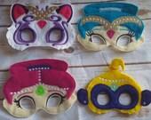 Shim and Shyne Masks,  Pretend Play Masks, Handmade Mask , Costume Mask,  Birthday Favor , Christmas Gift, Stocking Stuffer