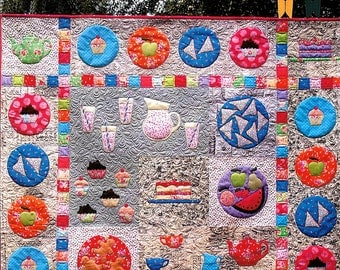 """Pattern """"Picnic Feast"""" by Matching Pegs (CG033) Applique Quilt Pattern"""