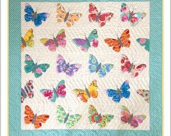 "Pattern ""Butterflies Quilt"" by Black Mountain Needleworks (843) Paper Pattern Applique"
